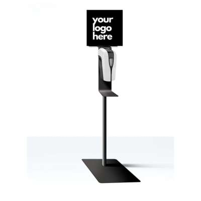 PREMIUM AUTO HAND SANITIZER Stand - Auto-Dispensing Hand Sanitizer Stand (custom labeled with your logo)