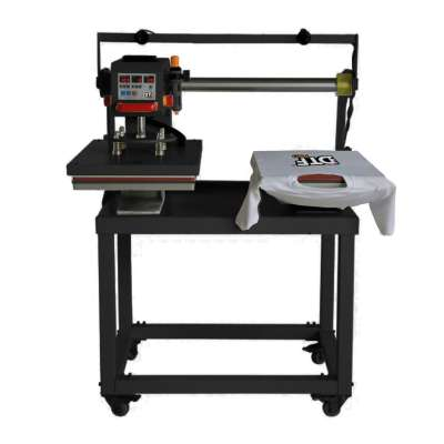 DBLDBL Heat Press: Double Station, Sliding, Semi-Automatic Pneumatic Heat Press (DOUBLE STATIONS, each 15.75 inches x 23.6 inches)