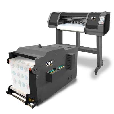 DTF PRO Panthera V2 Direct to Film Comprehensive Solution (includes NEXT GEN double-printheads, extra wide 65cm wide format PRINTER with embedded ROLL FEEDER and a V2 in-line POWDER APPLICATION MACHINE)