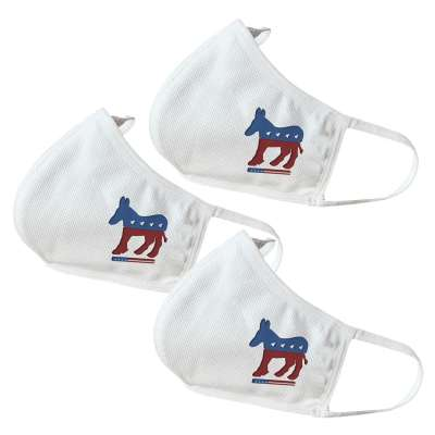 Democratic Party Symbol Themed Face Masks (3 Pack)