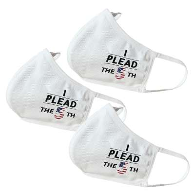 5th Amendment Themed Face Masks (3 Pack)