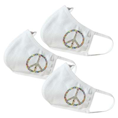 Peace Themed Face Masks (3 Pack)