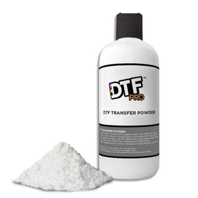 DTF PreTreat Powder - works for all DTG or DTF printers (1.75 pounds DTF transfer powder included)