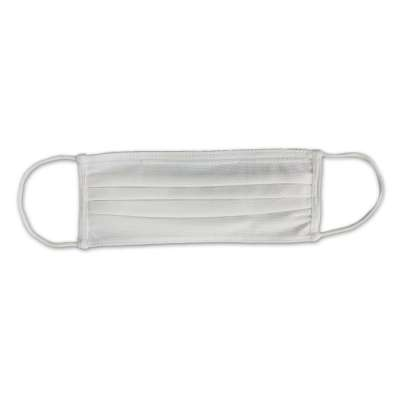 Stylish Dual Layer White Face Masks with built-in bendable nose bridge and soft, elastic Ear Straps