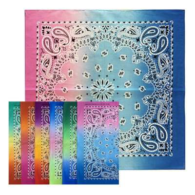 Cotton Bandanas for Face Masks | Make a Cloth Face Mask (22 inch x 22 inch size) - Multi-Color 2