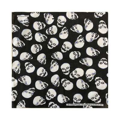 Cotton Bandanas for Face Masks | Make a Cloth Face Mask (22 inch x 22 inch size) - Skulls