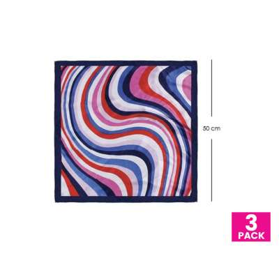 Scarf for Face Masks | Make a Cloth Face Mask (20 inch size) - 3 Pack - Swirl Multi Colors