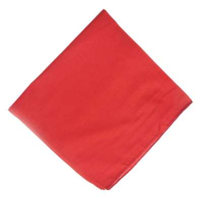 Cotton Bandanas for Face Masks | Make a Cloth Face Mask (22 inch x 22 inch size) - Plain Red