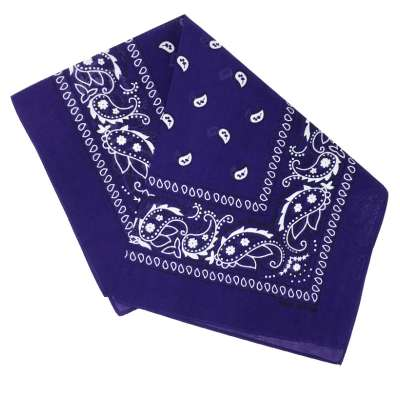 Cotton Bandanas for Face Masks | Make a Cloth Face Mask (22 inch x 22 inch size) - Stylish Purple