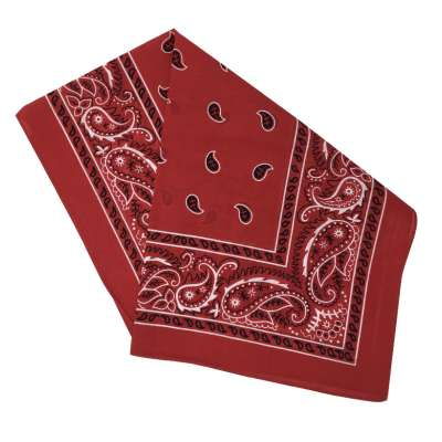 Cotton Bandanas for Face Masks | Make a Cloth Face Mask (22 inch x 22 inch size) - Stylish Red
