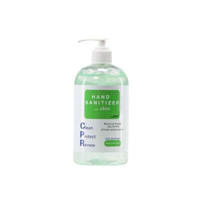 16oz CPR HAND SANITIZER Gel with Aloe to prevent hands from drying out