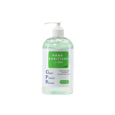 8oz CPR HAND SANITIZER Gel with Aloe to prevent hands from drying out