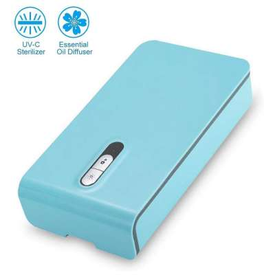 UV Cell Phone Sanitizer / Sterilizer, Portable Multi-Function Ultraviolet Smart Phone Disinfection Box - with aroma therapy function included